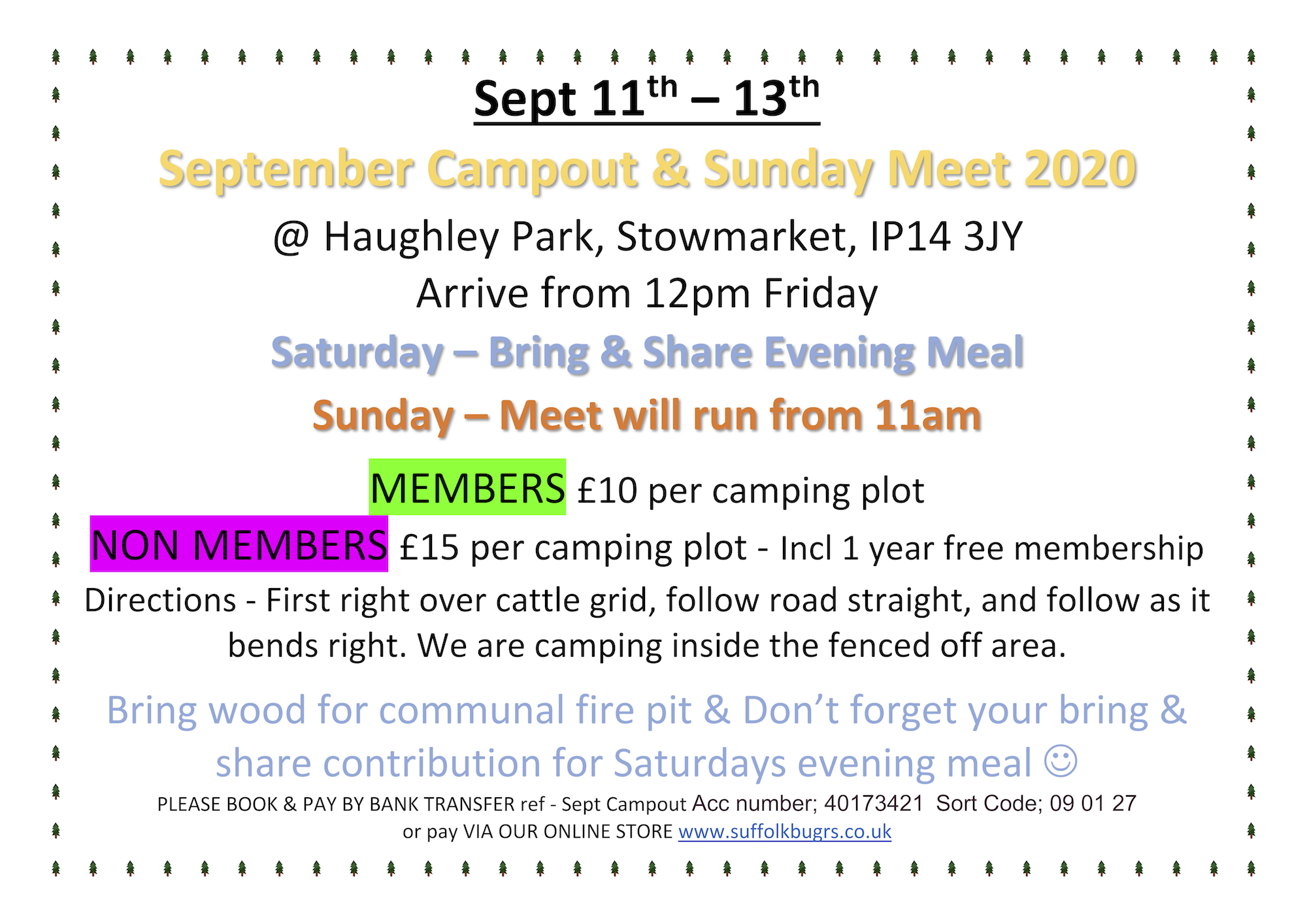 September Campout & Meet